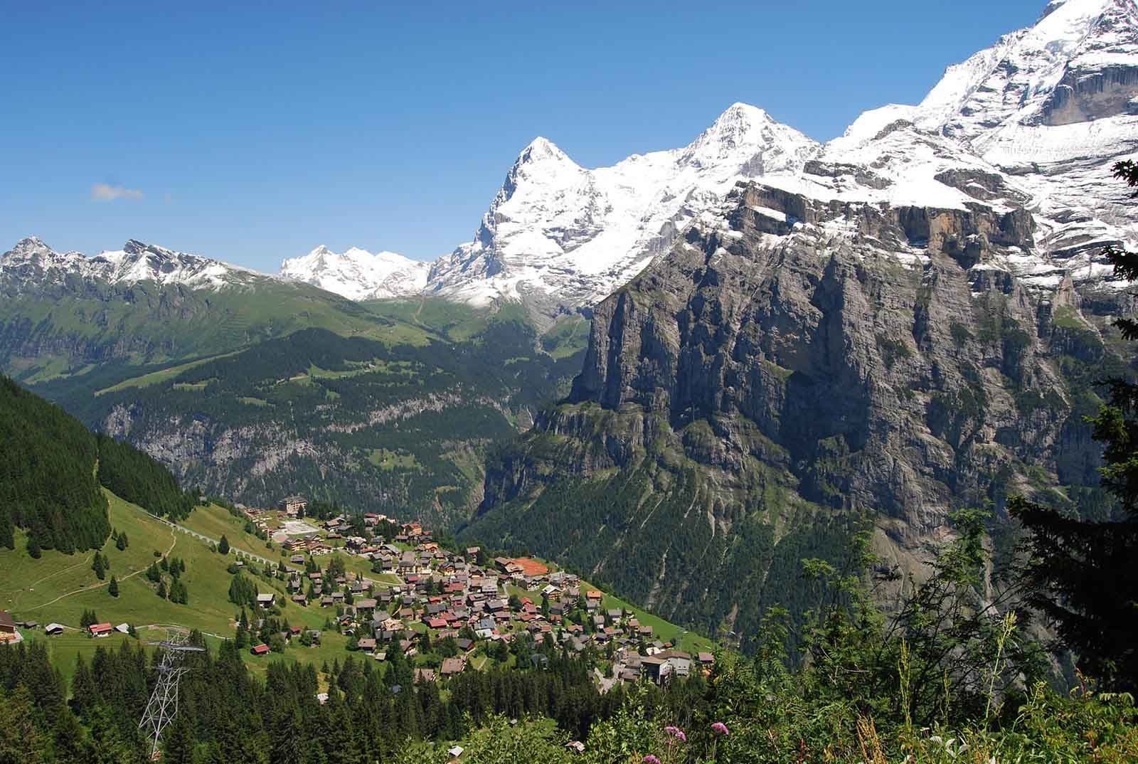Mürren, sommer, wandern, north face trail